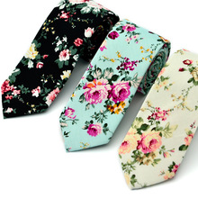 2017 New Fashion Ties for Men 100% Cotton Tie Floral Printing Classic Mens Necktie Business Casual Vintage Gravatas Neck ties
