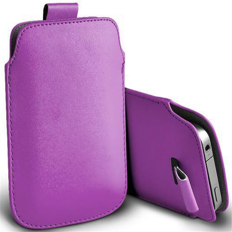 For Homtom HT6 Universal Pull Tab PU Leather Pouch Bags Phone Case For Leagoo Elite 5 Oukitel K6000 DOOGEE X6 Homtom 7 Cover 5.5