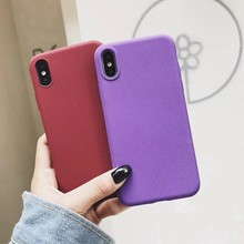 Matte TPU Phone Cases for iphone X SE 5 5S 6S 6 7 8 Plus Cover Silicone Fundas Huawei P20 Lite Mate 10 Pro Honor 9 8 Cover(China)