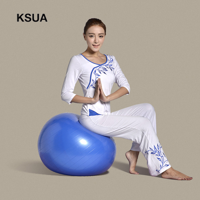 Woman Sportswear Gym Fitness Set Large Size Gym Cotton Sport Yoga Suit T-shirt Pants Tracksuit Yoga Set Zen Meditation Clothing купить
