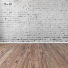Laeacco Brick Backdrops Gray White Wall Wooden Board Cake Party Baby Portrait Photography Backgrounds Photocall For Photo Studio