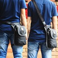 Высокое Качество Нейлон Мужчины Фанни Пояс Бум Ног Сумка Мотоциклов Винтаж Марка Военная Езда Messenger Плечо Assault Pack
