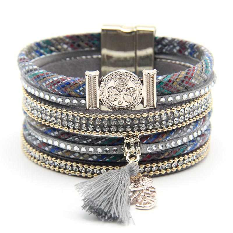 New design fashion style bracelet owl charms bracelet with tassel fashion high quality owl jewelry for women