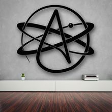 High quality Wall Stickers Vinyl Decal Atom Atheism Religion Science Great Decor CW-33
