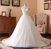 Vintage Lace Ball Gown Wedding Dresses 2018 Real Photos Robe De Mariee High Neck Sheer Bridal Gowns Handmade Abiti Da Sposa