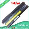 Nueva batería del ordenador portátil lenovo thinkpad X200 X200S X201 X201S X201I baterías 42T4535 42T4836 42T4837 42T4536 94WH celdas