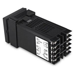 Image 2 - REX C100 Двойной цифровой ПИД регулятор температуры от 0 до 400 градусов, термостат SSR, выходные комплекты с датчиком зонда типа K