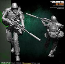 цена на Yufan Model Original 75mm Figure U.s. Army Ghost Sniper Resin Soldier YFWW-1846