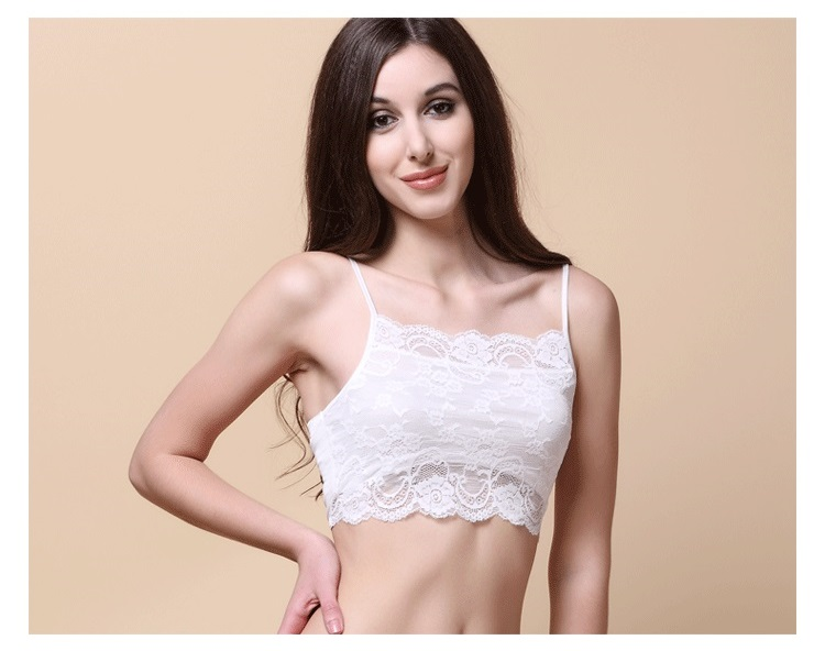 100% Real Silk Women's Tube Tops Femme Shoulder Sleeve Women Sexy Lace Wrap Chest Female Solid Wild Bottoming Woman 19