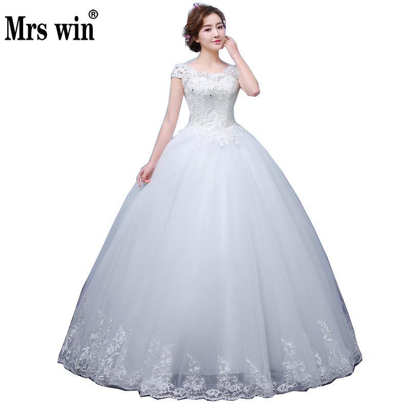 2020 New Vintage Wedding Dresses Mrs Win Short Sleeve Ball Gown Princess Wedding Dresses Vestido De Noiva Robe De Mariee F