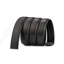f9f374783bfd 180 cm Plus La Taille Noir Ceintures pour Hommes Haute Qualité Automatique  Mâle Seulement Sangle En