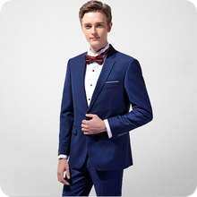 Royal Blue Men Suits Wedding Bridegroom Groomsmen Groom Wear Custom Tuxedos Best Man Blazer Prom Slim Fit Formal 2pieces