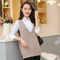 Plus Women Sleeveless 100% Cashmere knitted Pullovers New Fashion V neck Female Jumpers Spring Warm Sweaters Woman Tops Knitwear
