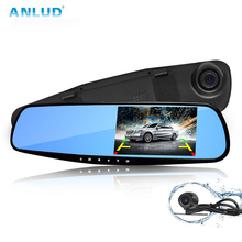 ANLUD Car Dvr Mirror Camera 1080P Dual Lens Dash Cam Camera Gps Recorder Car Dvrs Dashcam  Rearview Mirror LCD Display Mini Dvr