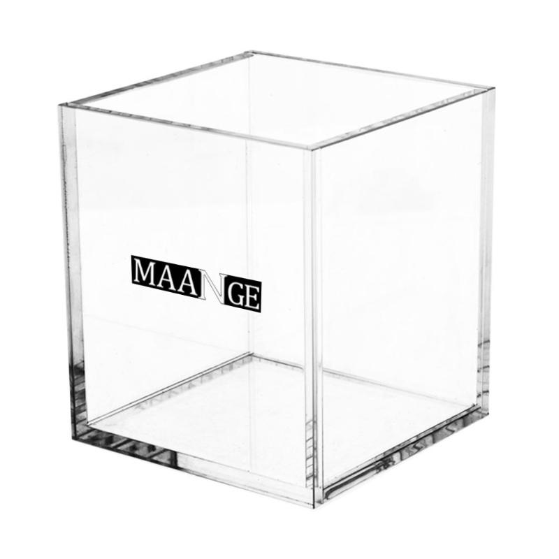 Transparent Acrylic Storage Box Cosmetic Brushes Pens Jewelry Clear Practical Container Elegant Design for Home or Shop Use
