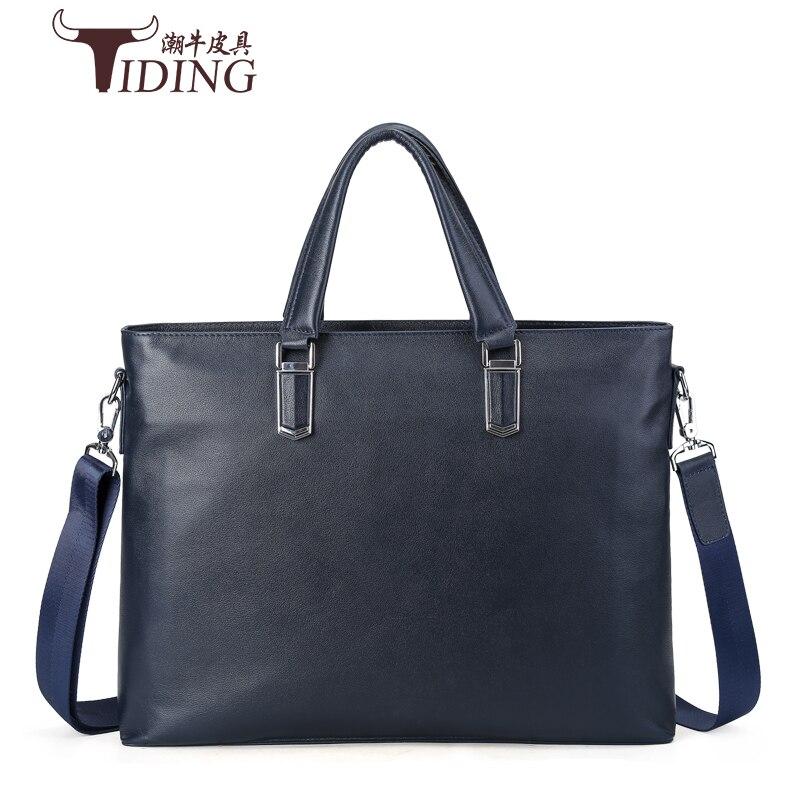 Men Handbags Brands Man Handbags 2017 Leather Genuine Business Messenger Bag Men's Briefcase Leather Brands Laptop Shoulder Bags