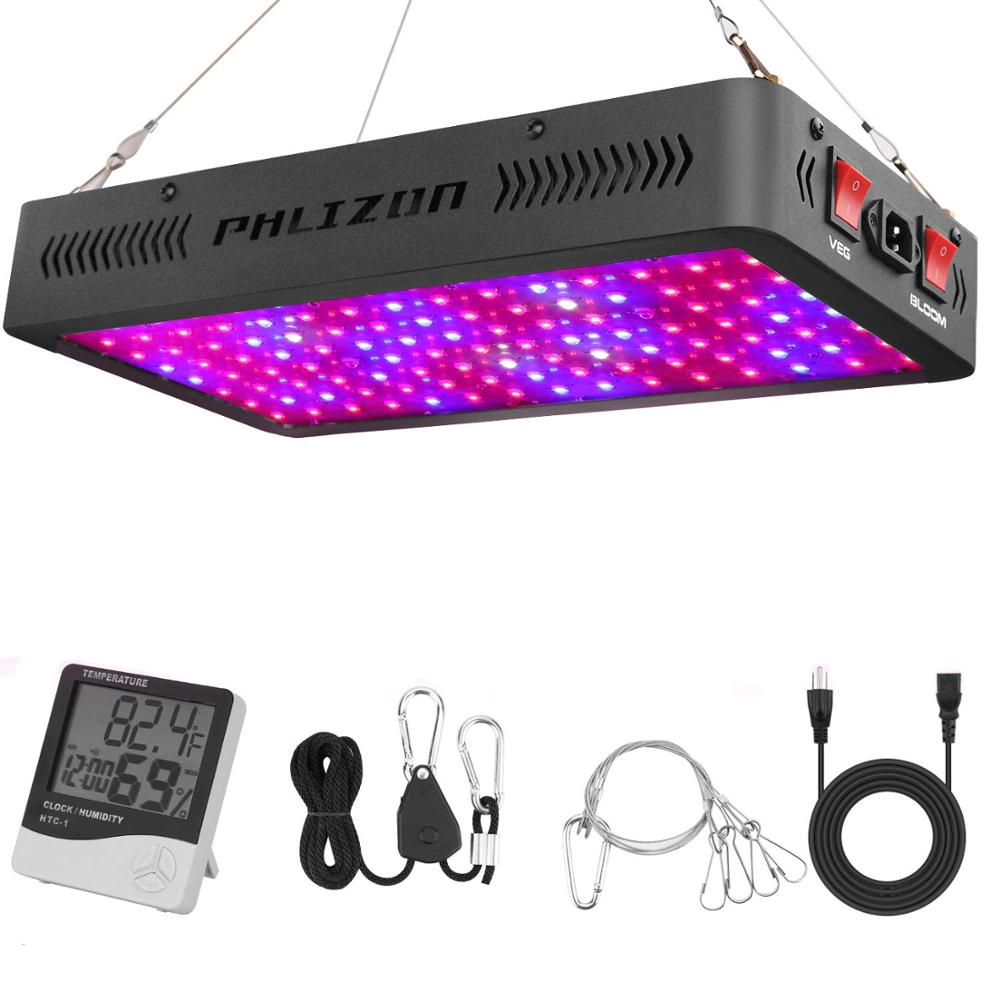 Phlizon 1200W grow lamp LED for plant hydroponic light greenhouse bulb full spectrum 220v 660nm