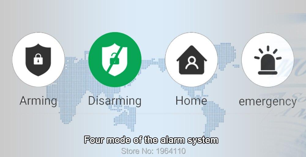 Super Mini WIFI Home Security Alarm System DIY Kit IOSAndroid Smart Phone App PIR Main Panel DoorWindow Sensor Burglar Alarm_F4
