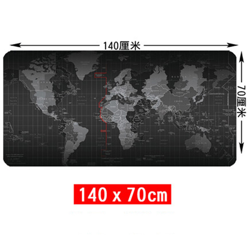 SIANCS Super grand 140 cm x 70 cm carte du monde tapis de souris jeu gamer gaming tapis de souris grand bureau coussin Table clavier protecteur tapis - 3
