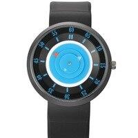 Nouvelle Creative Unisexe Concept Poignet Montres À Quartz En Caoutchouc de Silicone Bracelet De Luxe Mens Mode Genève Quartz Horloge Hommes 2017