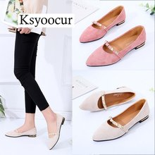 Brand Ksyoocur 2018 New Ladies Flat Shoes Casual Women Comfortable Pointed Toe Spring/autumn 18-025