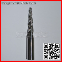 16 35H R2 0 4Degree 120L Solid Carbide Three Flute Taper Ball Nose Bits CNC Machine