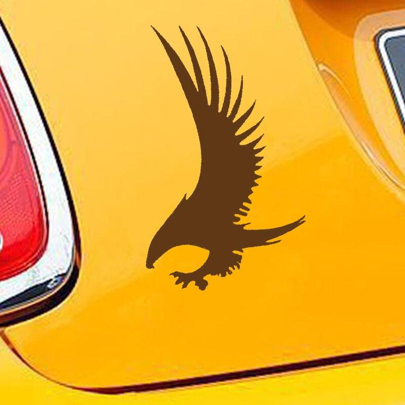 HotMeiNi Car Sticker Jdm styling Window Bumper Vinyl Truck Body Decal Waterproof Eagle With Its Wings Spread 15*10cm