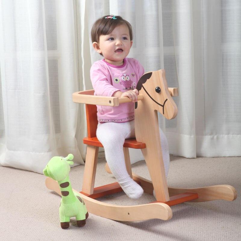 Bébé en bois massif de Style européen, chaise en bois à bascule, voiture jouet, jardin d'enfants Puzzle, Protection de l'environnement, sécurité, On