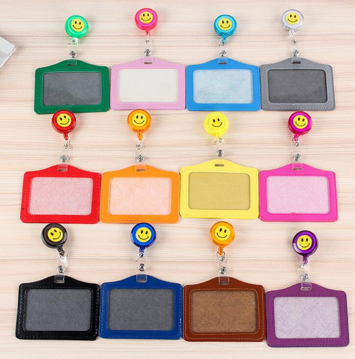 1pcs Cute Retractable Badge Holder With Badge Reel  Student Nurse Exhibition ID Name Card