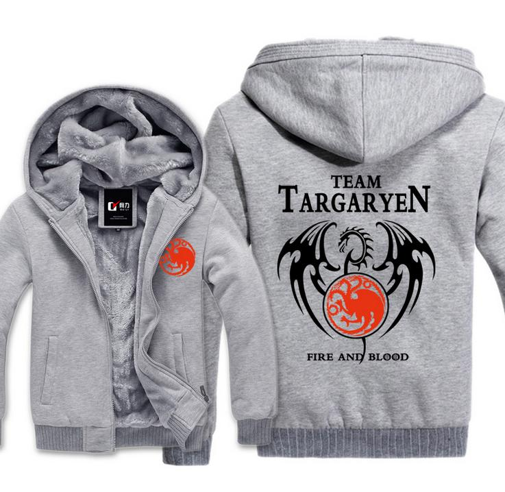 High Q Game of Thrones Fire Dorako font b hoodies b font jacket A Song of