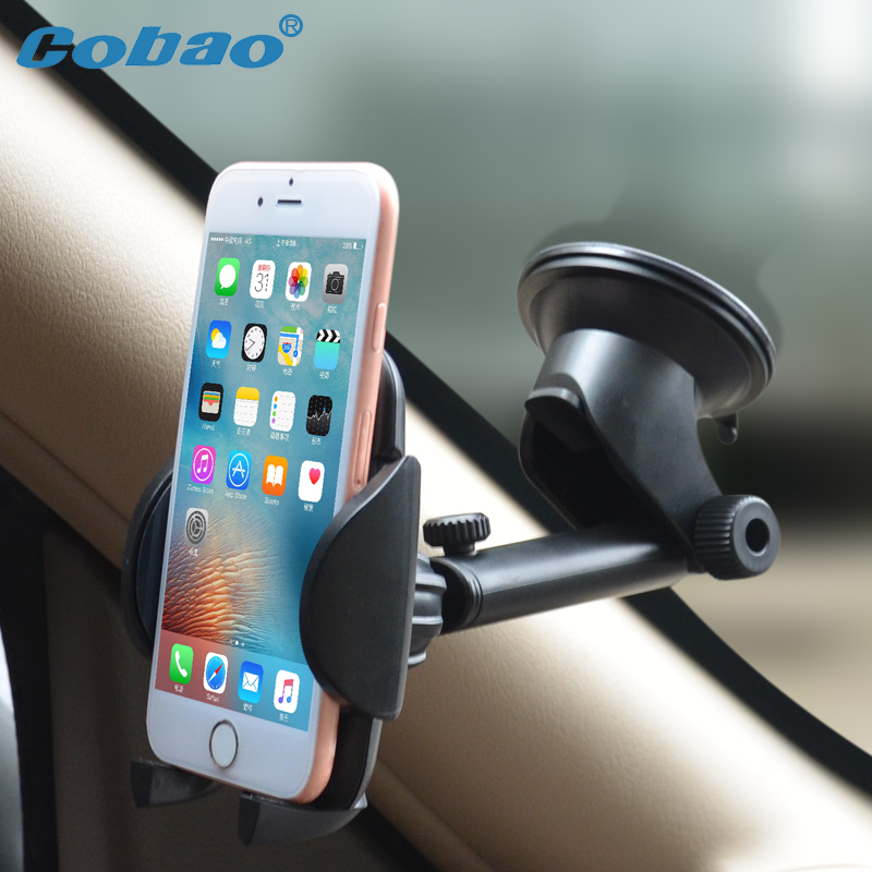 Cobao Universal Dashboard Mobile Holder Car Windshield 360 Rotatable Phone Holder Car Cell Phone Holder for Xiaomi Huawei iPhone