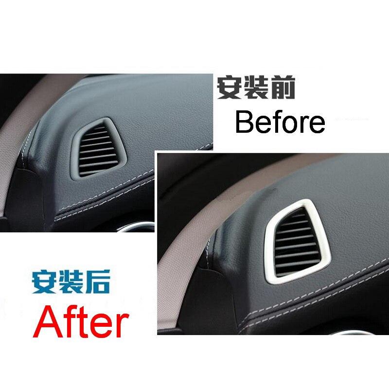 208d49d97 2 قطع سيارة جديد DIY الفولاذ المقاوم للصدأ لوحة تنفيس الزخرفية صندوق إضاءة  غطاء حالة ل بنز 2015 C180 C200l أجزاء اكسسوارات