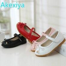 Детская обувь; Новинка; сезон весна-осень; обувь на плоской подошве для маленьких девочек; детская обувь; цвет черный, белый, красный; обувь принцессы для девочек; обувь для учащихся; европейские размеры 21-36