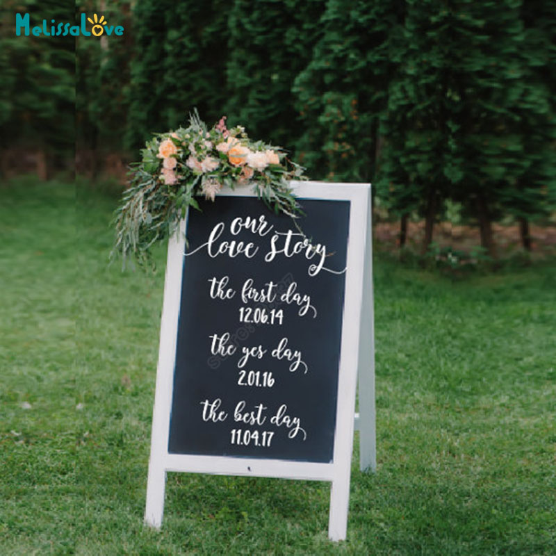 Our Love Story Wedding Idea: Our Love Story Wedding Welcome Sign Personalized Wedding