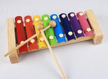 Exempt postage, wooden music toys, childrens eight steel xylophone, seven color xylophone