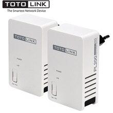 TOTOLINK PL200 Комплект 200 Мбит/с Powerline Ethernet адаптер, охват до 300 метров, HomePlug AV Ethernet мост, Plug and Play