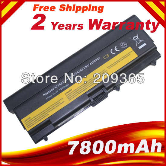 7800mAh 9 cells battery For Lenovo ThinkPad L400 L410 L420 L510 L520 SL400 SL410 SL500 SL510 T410 T420 T410i T420i клавиатура topon top 100450 для lenovo ibm thinkpad sl300 sl400 sl500 black