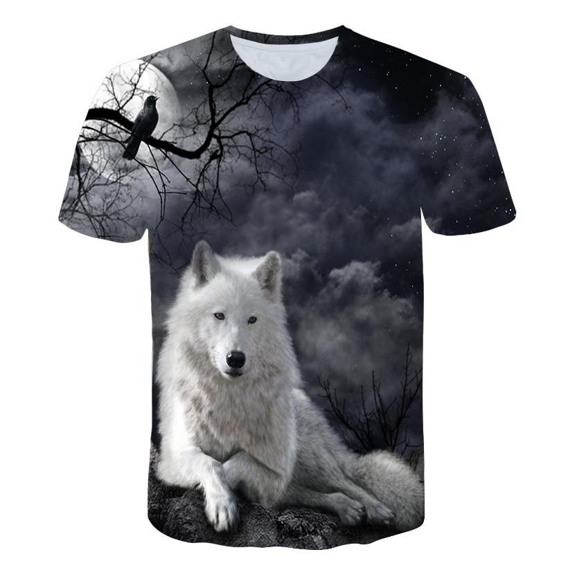 Wolf T Shirt Men Animal Tshirt Anime Clothes Magic 3d Print T-shirt Hip Hop Tee Cool Mens Clothing 2019 New Summer Tops