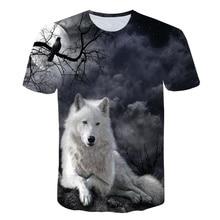 Wolf T shirt Men Animal Tshirt Anime Clothes Magic 3d Print T-shirt Hip hop Tee Cool Mens Clothing 2019 New Summer Tops men wolf 3d print tee
