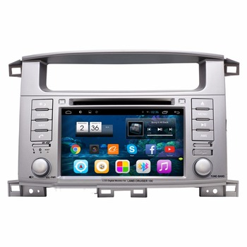 "7"" Android Car Audio Radio DVD GPS Navigation Central Multimedia for LC100 Toyota Land Cruiser 100 2002 2003 2004 2005 2006 2007"