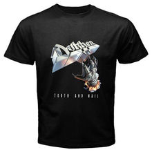 Good Quality Brand Cotton Shirt Summer Style Cool  Short Graphic Dokken Tooth And Nail Metal O-Neck Mens Tees