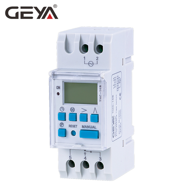 GEYA THC Astronomical Timer Switch LCD Display 16A 20A 30A Timing Control Latitude Switch 110V 220V