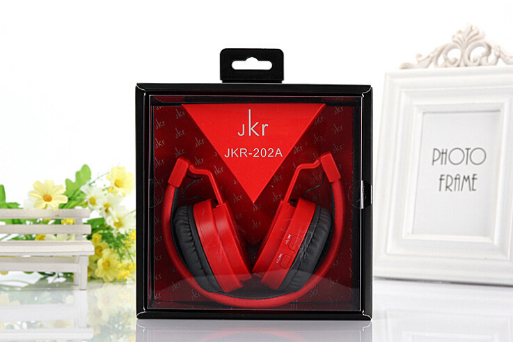 2017 Hot Sale JKR 202a Foldable Wireless Bluetooth Headphone Stereo Music bass Headset With Mic MP3 FM Radio Earphone For iOS An