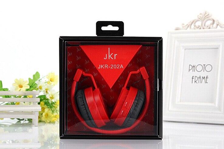 2017 Vente Chaude JKR-202a Pliable Sans Fil Bluetooth Casque Stéréo Musique basse Casque Avec Micro MP3 FM Radio Écouteur Pour iOS un