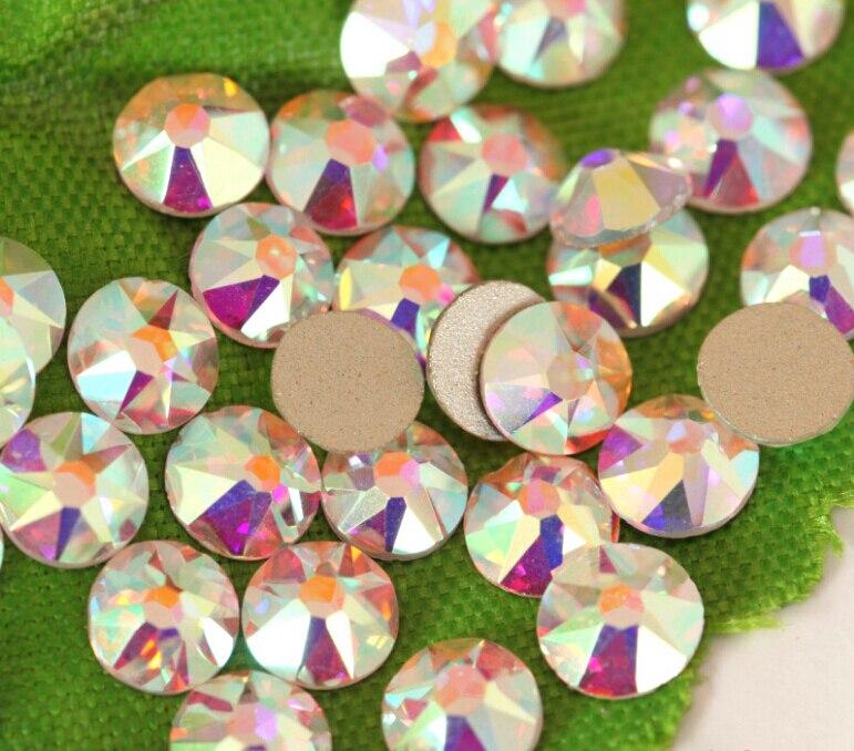 1440 pcs/lot, AAA Nouveau Facted (8 grand + 8 petit) ss20 (4.8-5.0mm) cristal AB Nail Art Colle Sur Le Non-correctif Strass