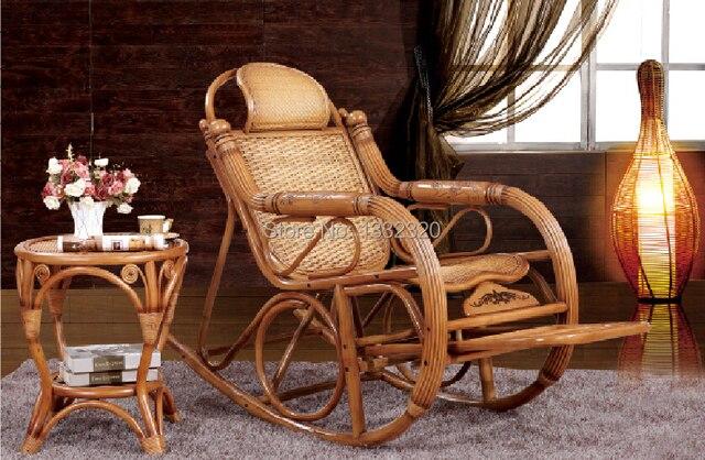 Ratán muebles de comedor combinación mecedora silla silla de mimbre ...