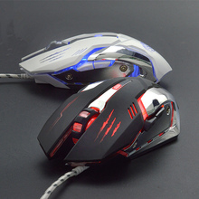 Gaming Mouse Ajustable 3200DPI 6 Buttons USB Wired Optical Game Mice LED Backlit For LOL CF Computer Mouse Gamer For PC Laptop