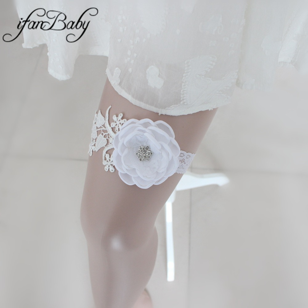 Fashion White Women's Garter Wedding Garter, Customizable