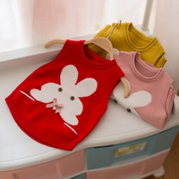 Baby vest baby girl clothes cute vest for girls winter children's vests cartoon sweater for girls clothing
