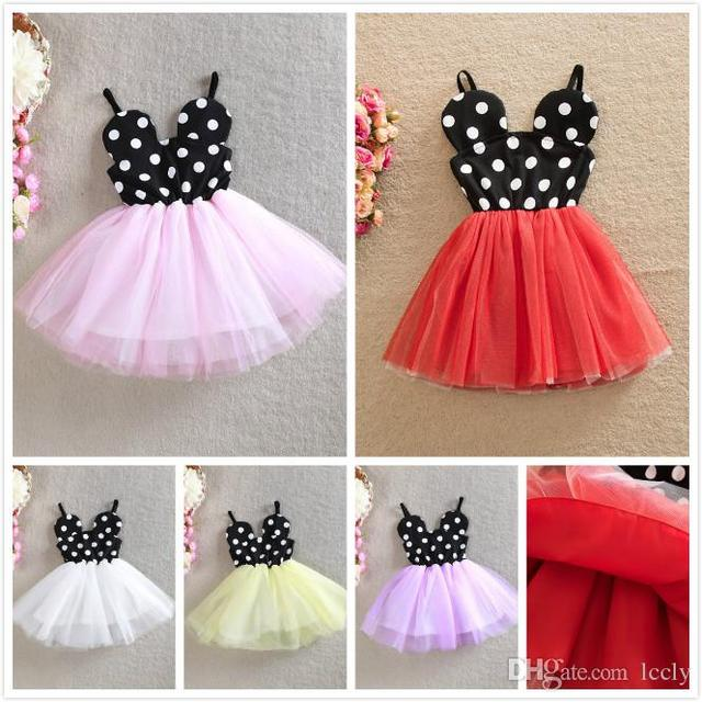 8f52f0af40b6d US $45.0 | Girls Mickey Polka Dot Suspender Tutu Dress Summer Cute Baby  Girl Multi Color Ruffles Princess Party Dress Wholesale #35-in Dresses from  ...